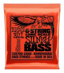Струны Ernie Ball Slinky Long Scale Bass 2838 32-130