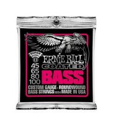 Струны для бас-гитары Ernie Ball Super Slinky Coated Bass 3834 45-100