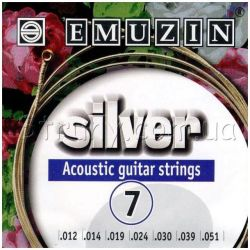 Струны EMUZINSilver Acoustic Guitar 7 Strings